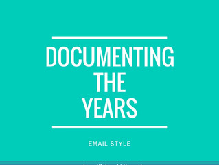 documenting the years, email style