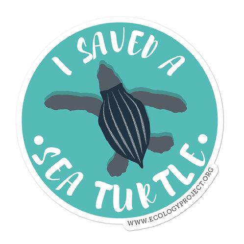 I saved a sea turtle sticker