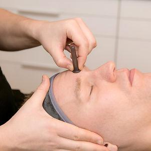 privat massage ansikte sittande