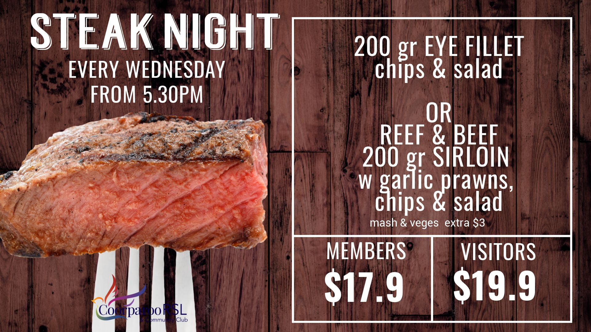 wednesday final steak night