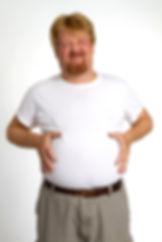 איש עם בטן גדולה