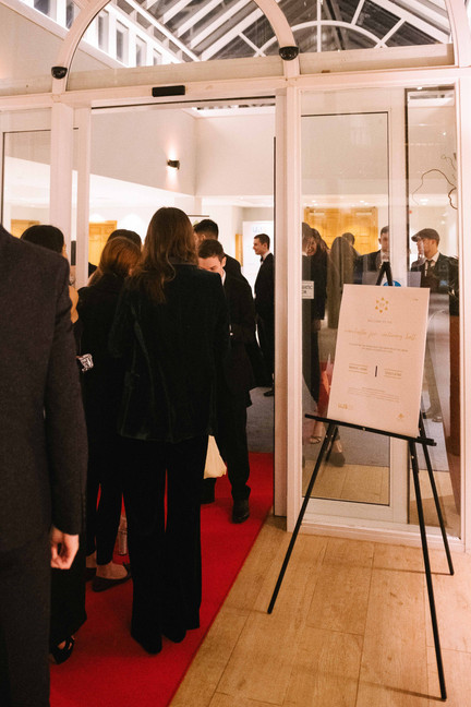 Guests entering the ball