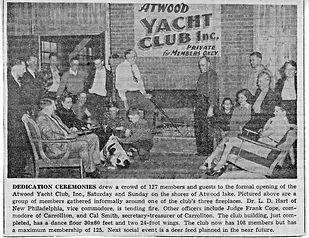 Atwood Yacht Club dedication ceremony