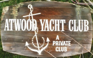 Atwood Yacht Club Entrance Sign