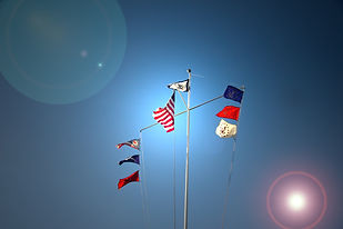 Atwood Yacht Club flagpole