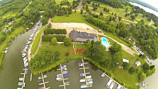 Atwood Yacht Club Aerial View