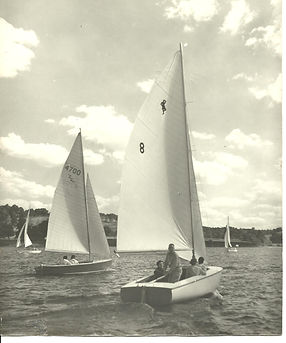 First sailboats launched on Atwood Lake, Ohio