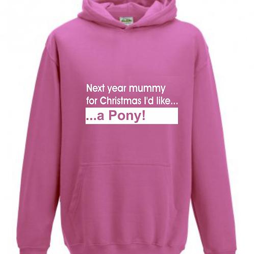 Mummy/Daddy Pony Hoodie - Child
