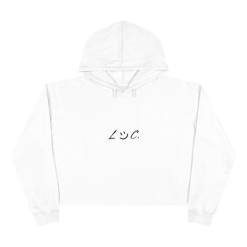LOC. White Crop Hoodie
