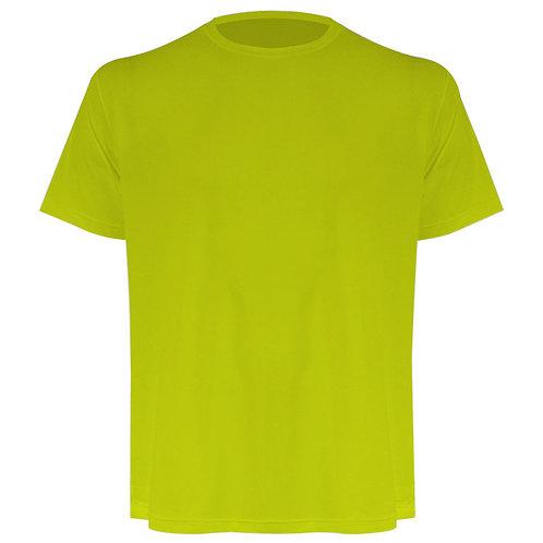 Camiseta masculina amarelo flúor