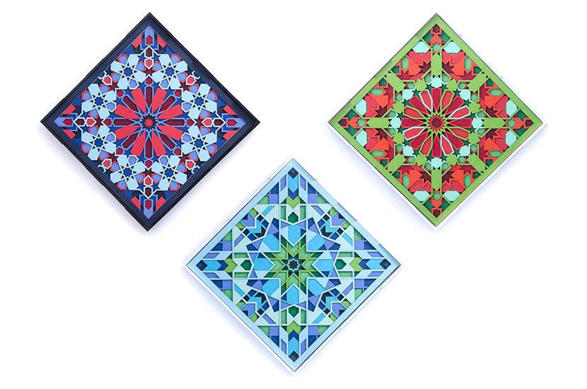 3 Paper Cut Modern Wall Art based on Arabic geometry