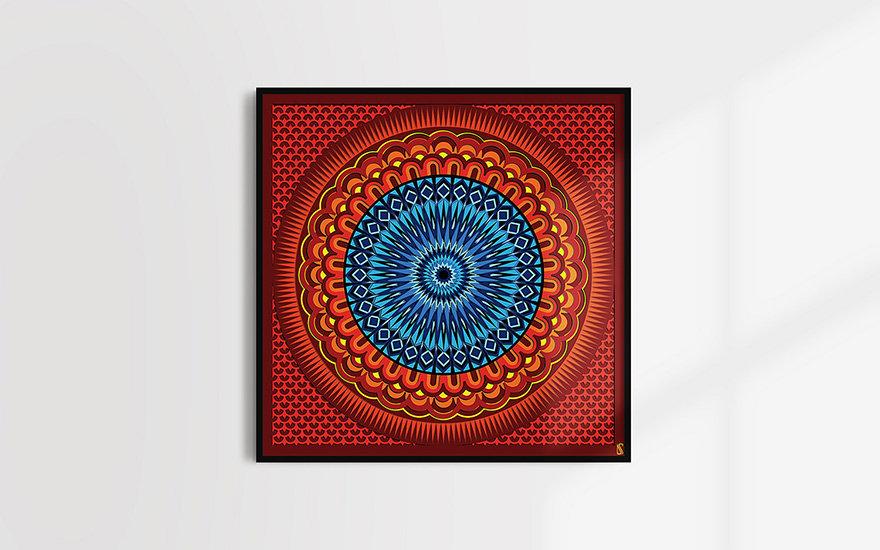 Download modern printable mandala wall decor