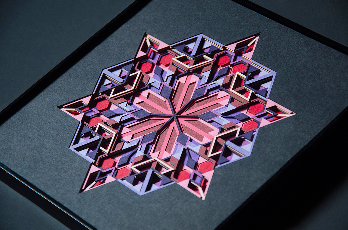 12.Closer look at 16 layers of intricate geometric paper cuts