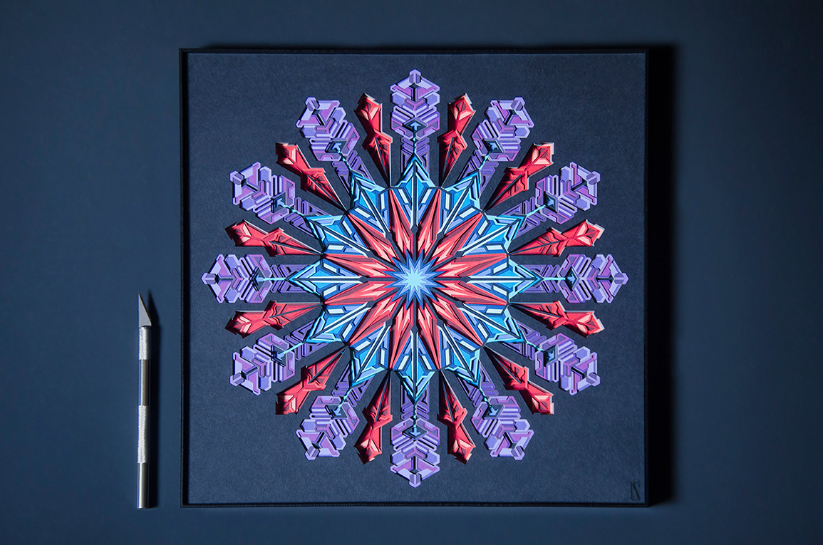 6.Artistic illustration of a 'Supernova' with 25 layers of paper