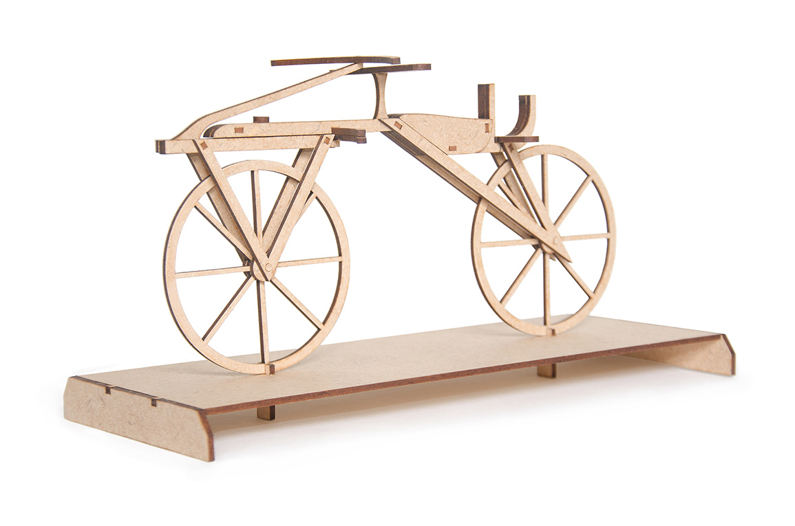 5.Wooden DIY kit of vintage bicycle called 'Laufmaschine'