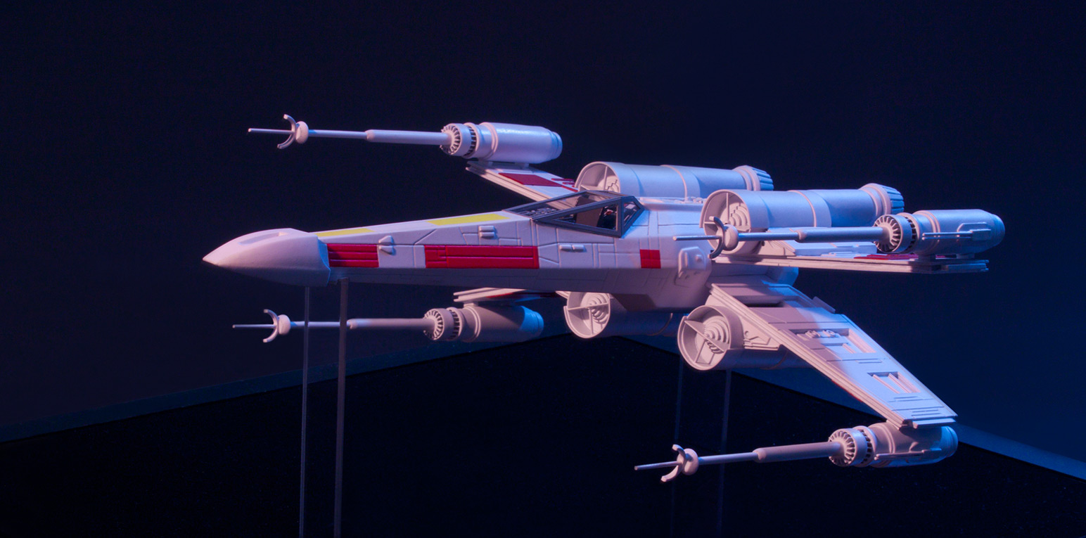 1.X-Wing Figher, scratch built scale model