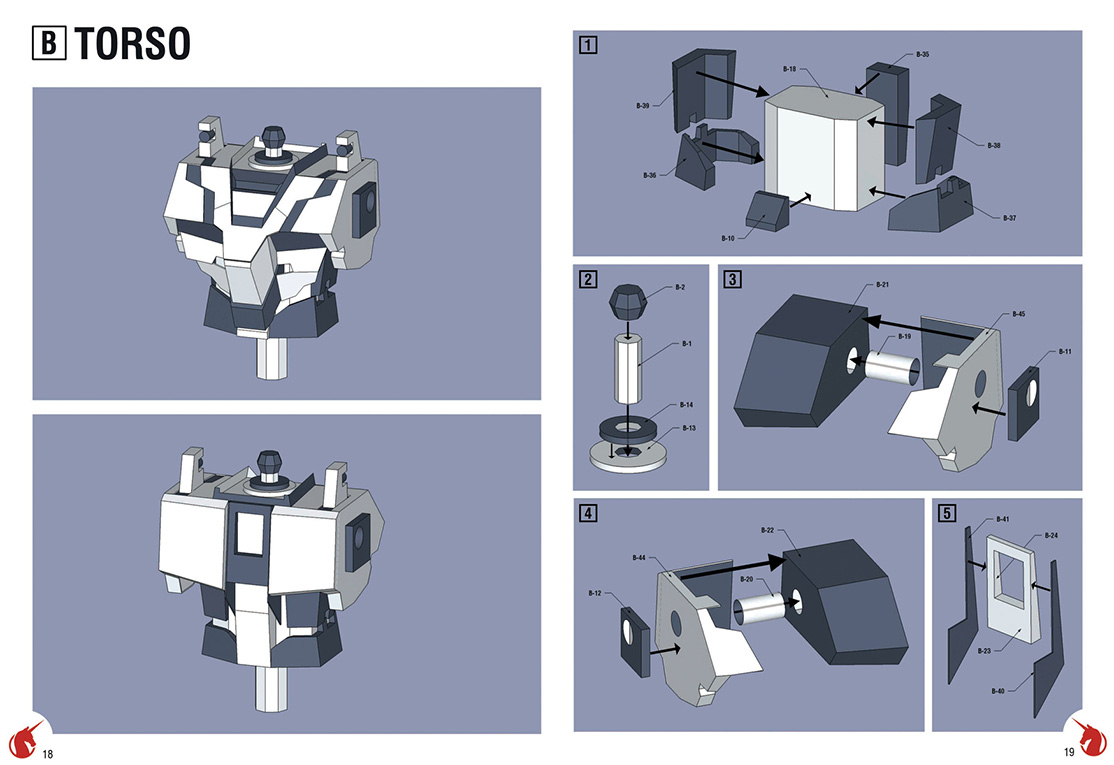 8.Detailed instruction manual of the paper model