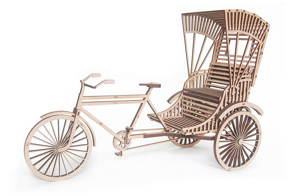 13.Indian tricycle rickshaw 3D puzzle