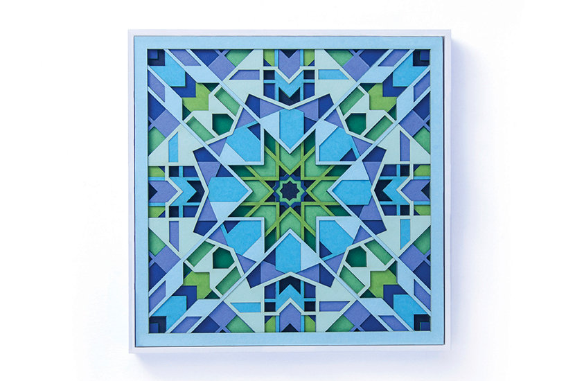 Intricate Sacred Geometry Paper Sculpture