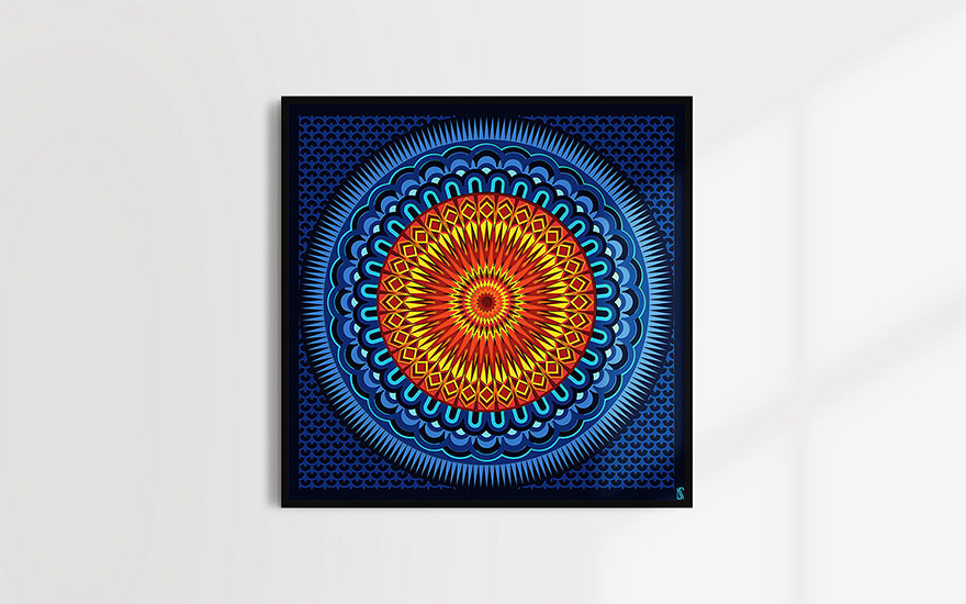 Downloadable spiritual geometric chakra art