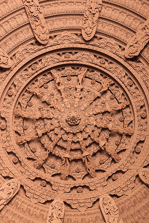 2.Titled 'Portal To Heaven' it is inspired by temple carvings