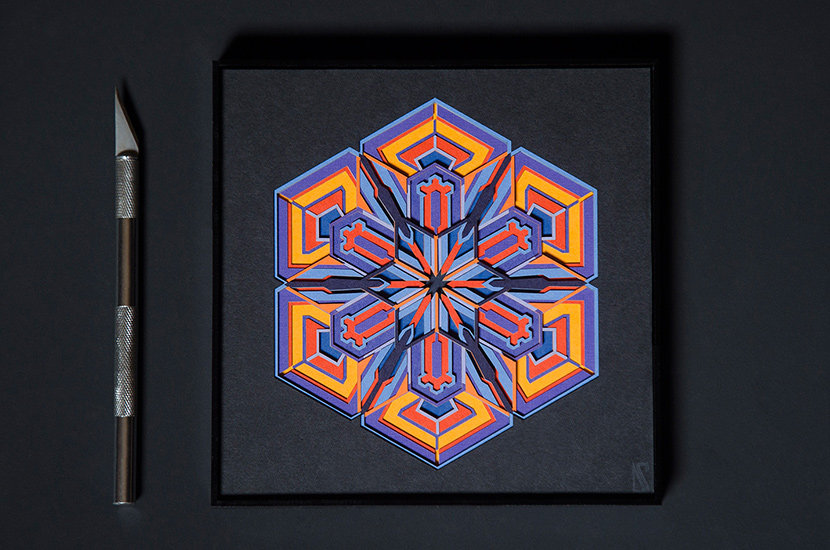 Hexagon snowflake design by Zubin Jhaveri