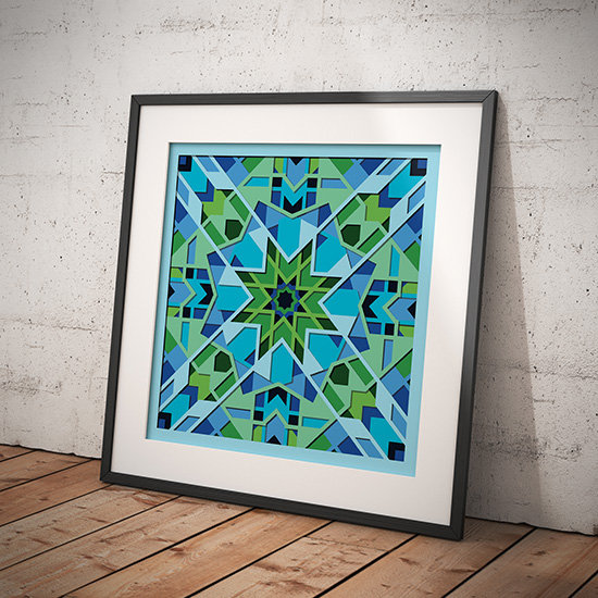 Wall Poster Print of soothing square design