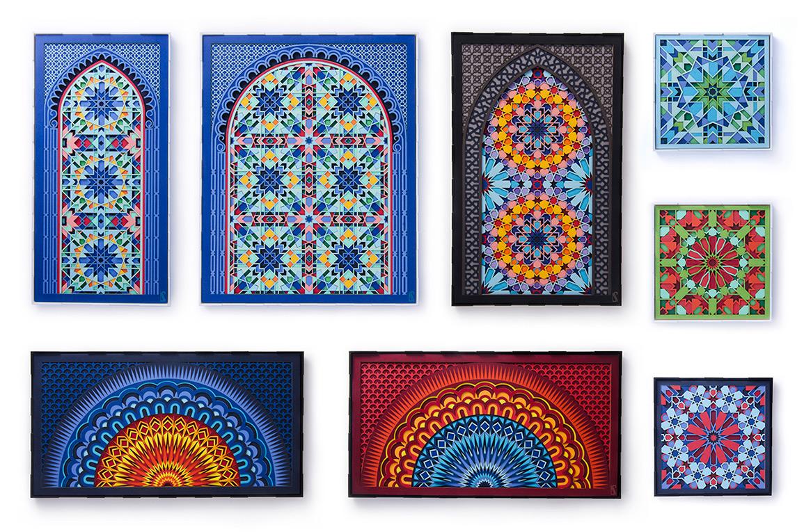 16.Entire 'Kaleidoscope' paper sculpture series