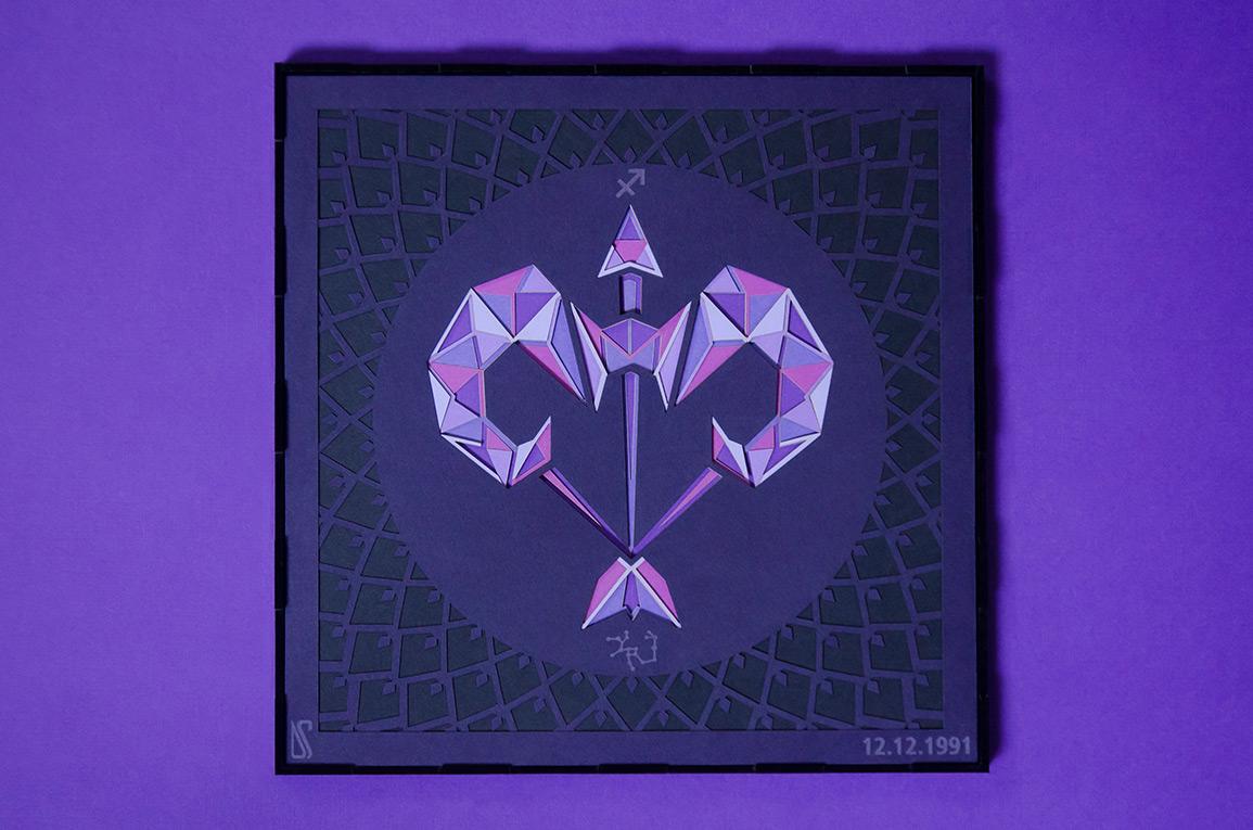 23.Sagittarius zodiac paper art