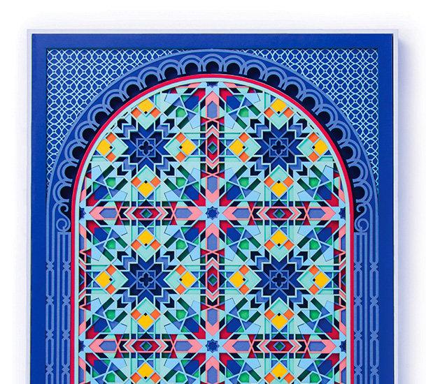 Paper Cut Kaleidoscopic Paper Art
