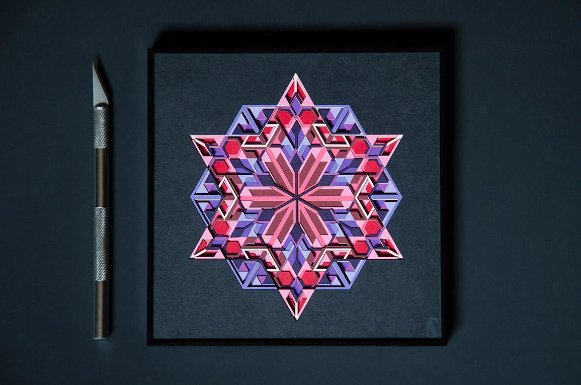 11.'Amethyst' paper art inspired by the wonderful quartz