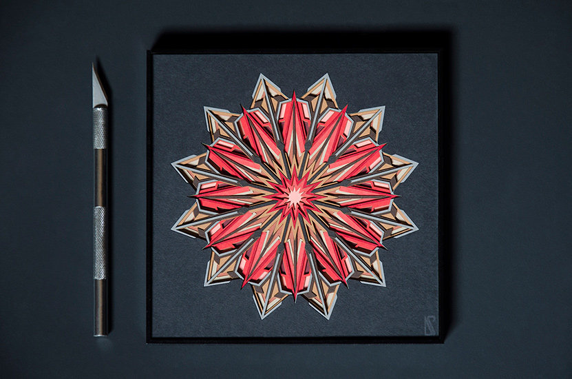 Solar flare abstract paper cut artwork by Zubin Jhaveri