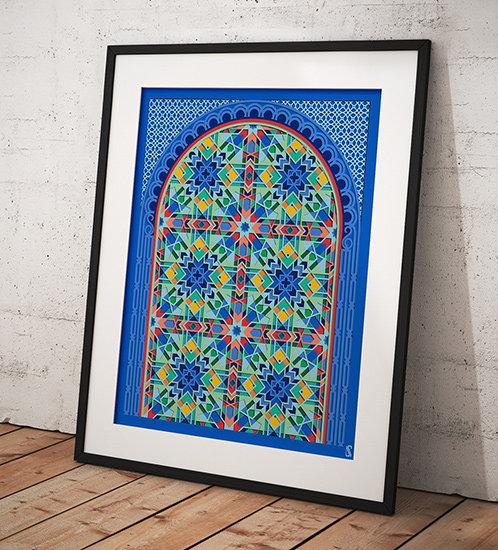 Moroccan Geometry Downloadable Wall Print by Zubin Jhaveri