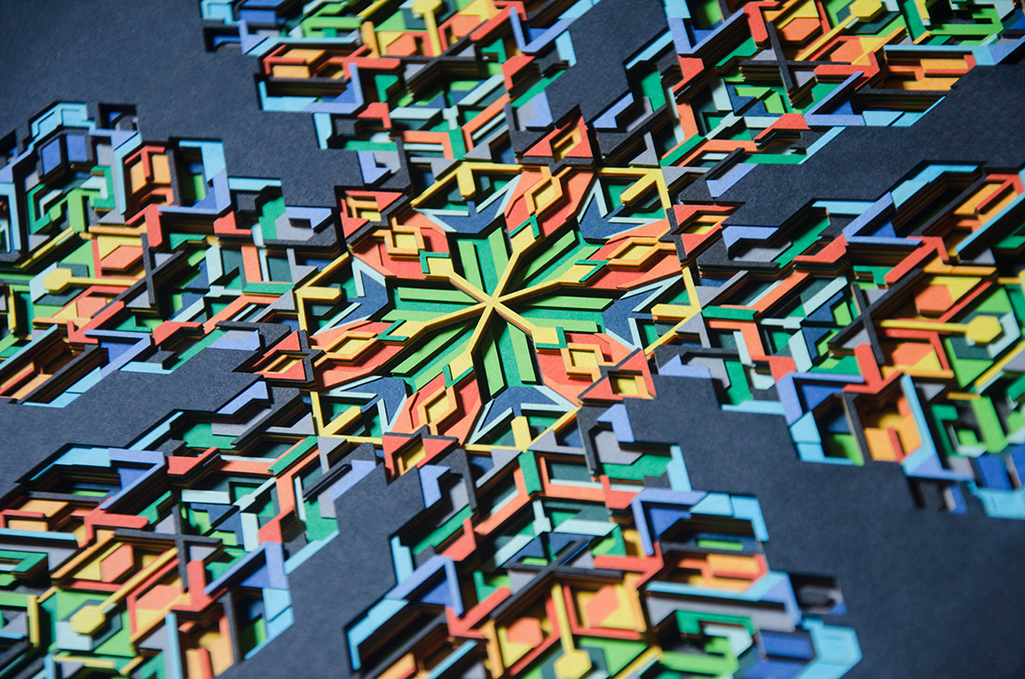 8.Closer look at the fusion of colors and 21 layers of paper cuts
