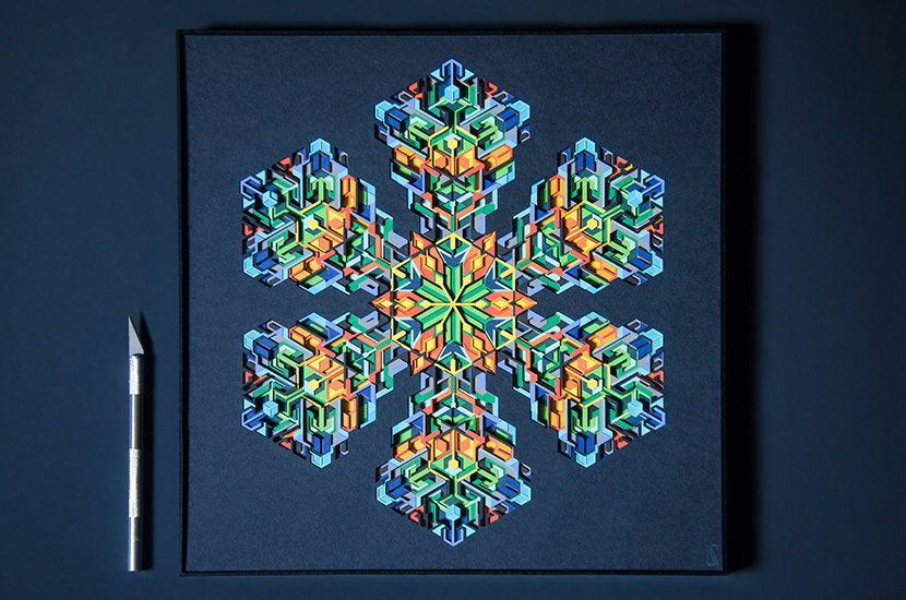 Multi Layered Paper Cut Artwork