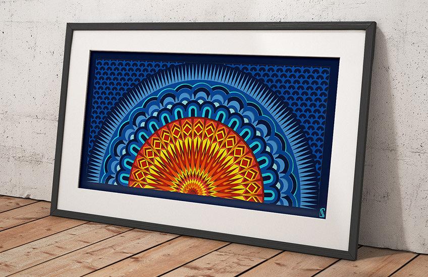 Geometry Spiritual Mandala Wall Print by Scaled Dimensions