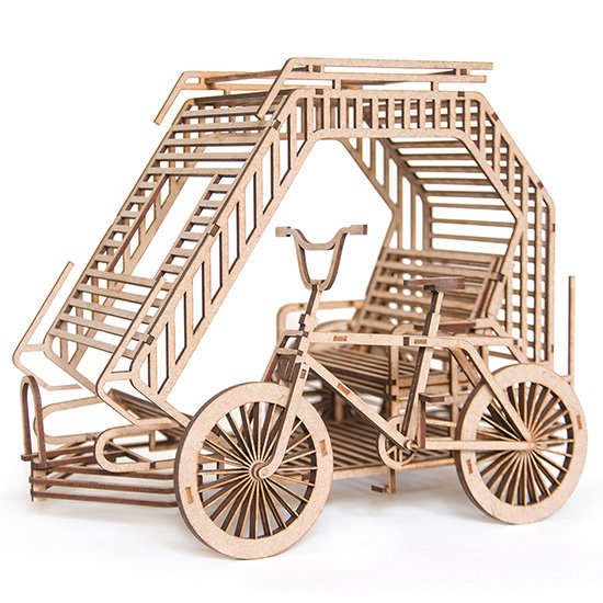 Philippine BMX Bicycle Taxi 3D Puzzle by Scaled Dimensions