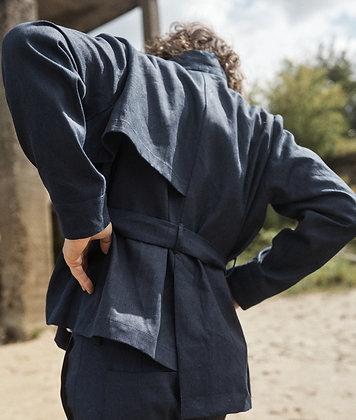 Indigo dyed hennep jacket