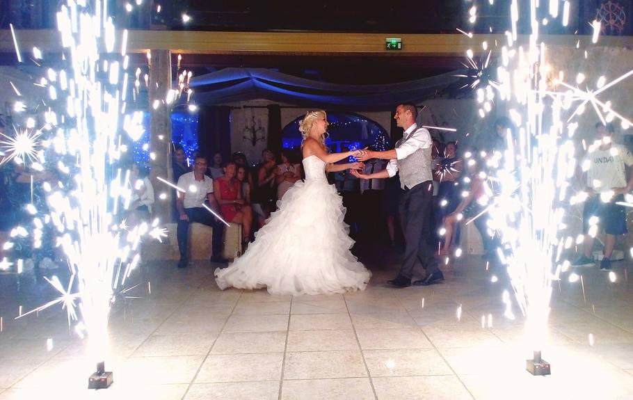 jets d'étincelle mariage