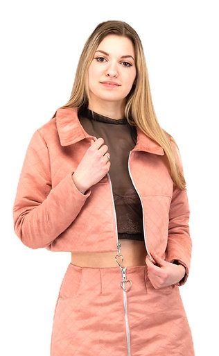 Quilted Suede Jacket
