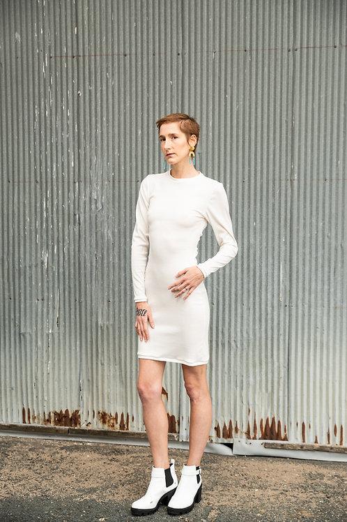 Rib Knit Cutout Dress