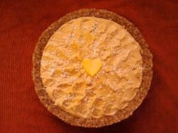 raw orange tart