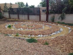 Maria's spiral garden mulched
