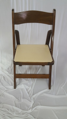 Wooden Fruitwood Padded Chair w/padded Seat (ivory) $3.25 each