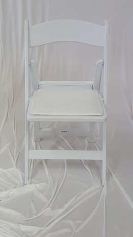 Resin White Chair w/padded seat $2 each