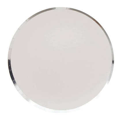 9in Plates - Silver