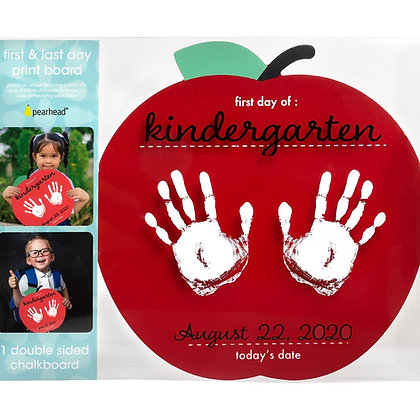 First and Last Day of School Reversible Apple Handprint Sign