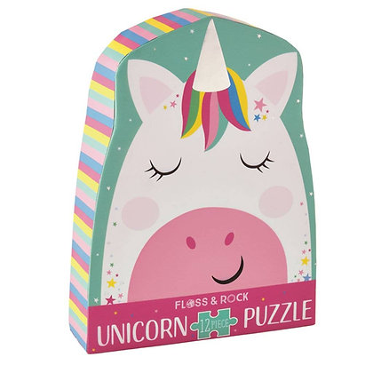 Rainbow Unicorn 12pc Shaped Jigsaw