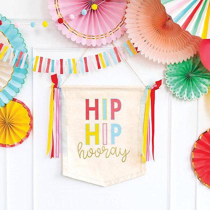 Hip Hip Hooray Canvas Banner