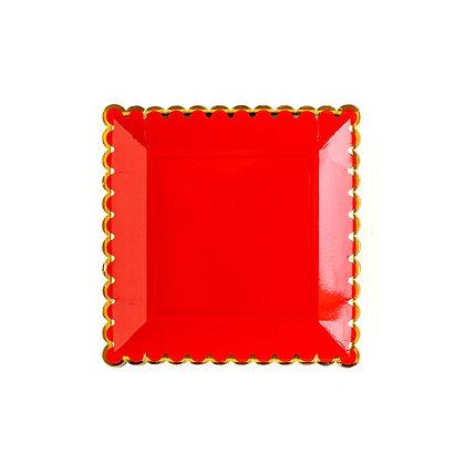 "Basic Plates 9"" - Red"